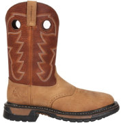 "Rocky Men's Original Ride 11"" Steel Toe Western Work Boots"