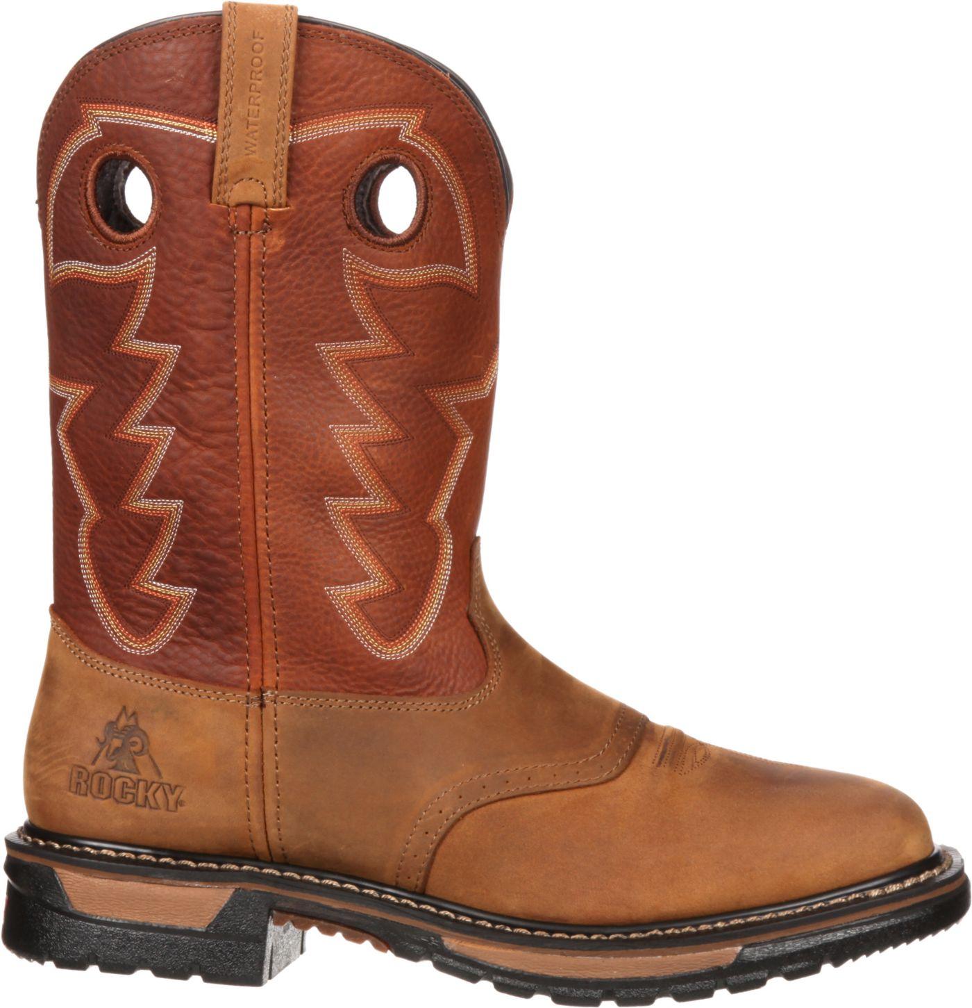 "Rocky Men's Original Ride 11"" Waterproof Western Boots"