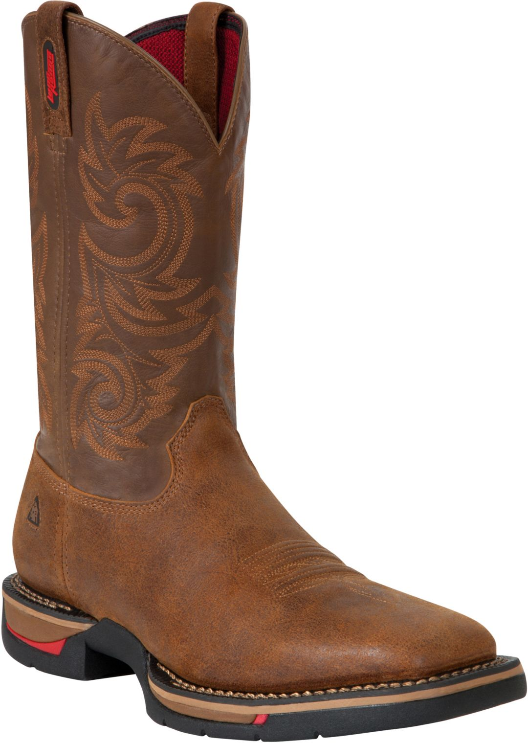 """f301fc2d4eb Rocky Men's Long Range 12"""" Waterproof Steel Toe Western Work Boots"""