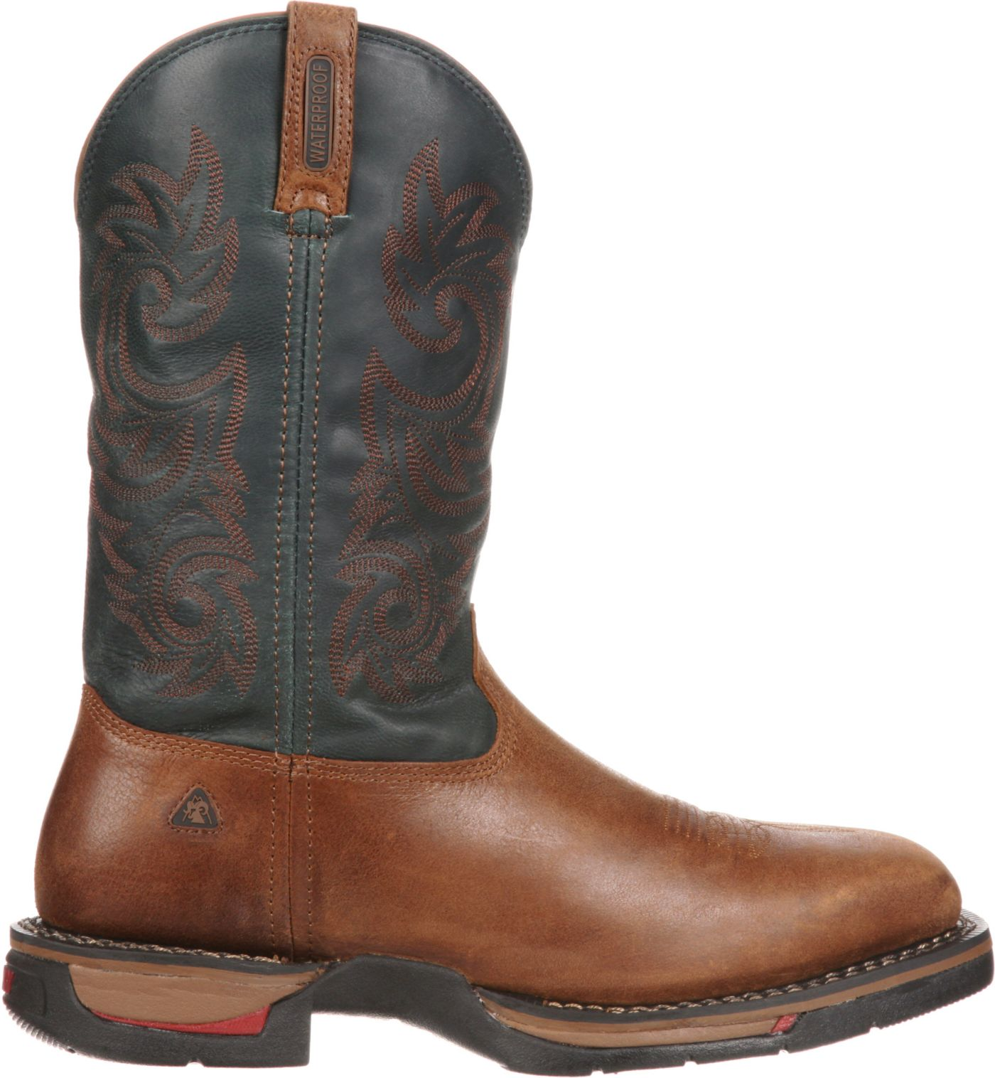 "Rocky Men's Long Range 12"" Waterproof Western Work Boots"