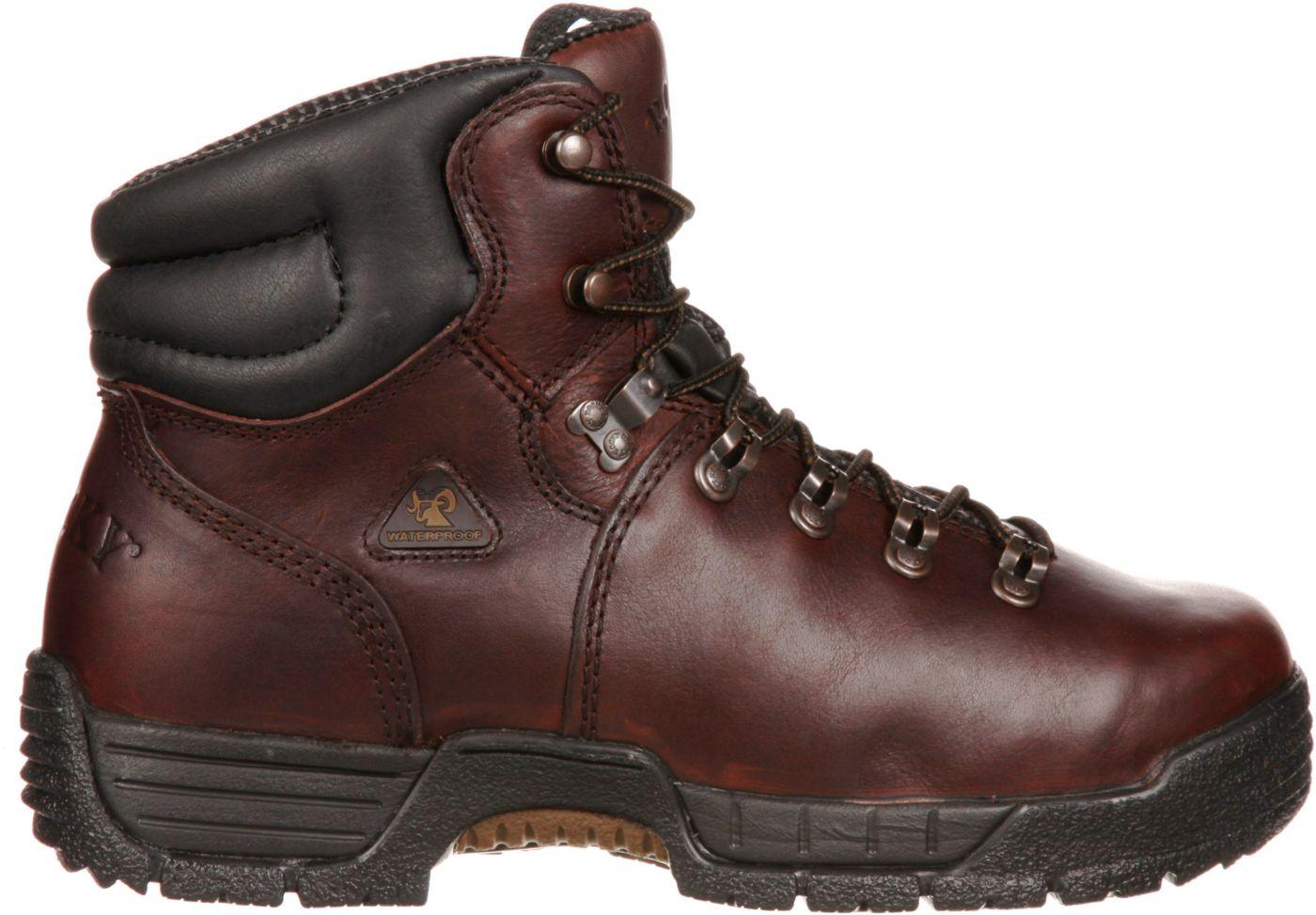 "Rocky Men's MobiLite 6"" Waterproof Steel Toe Work Boots"