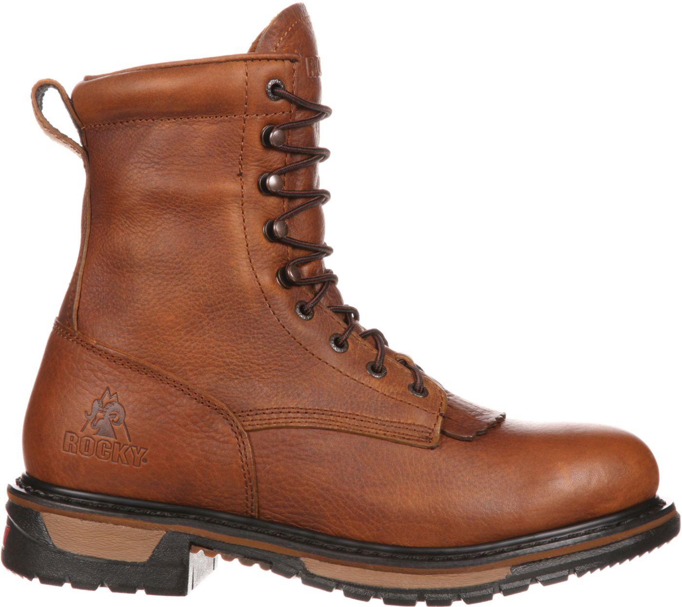 Rocky Men's Original Ride Lacer 8'' Waterproof Work Boots