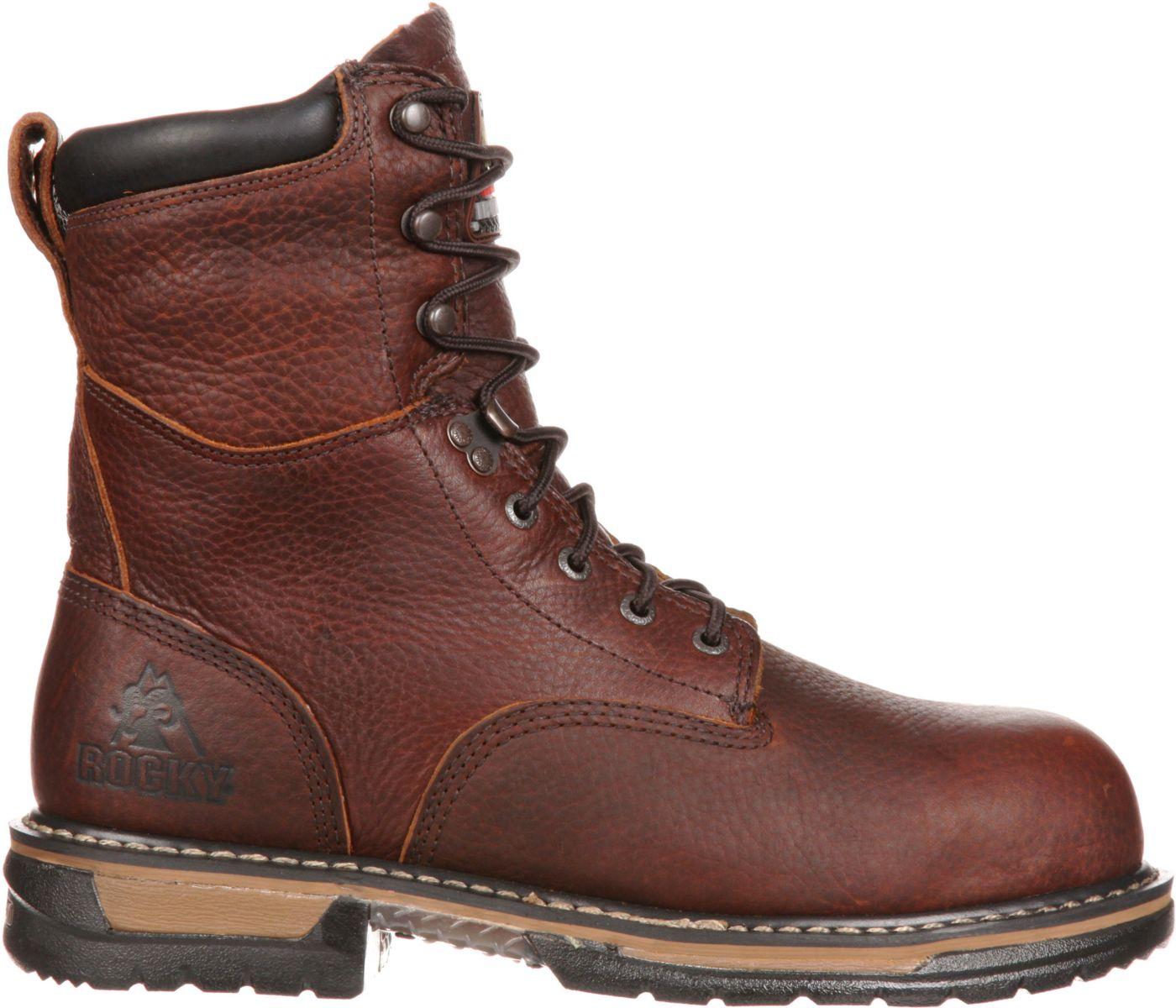 "Rocky Men's IronClad 8"" Waterproof Steel Toe Work Boots"