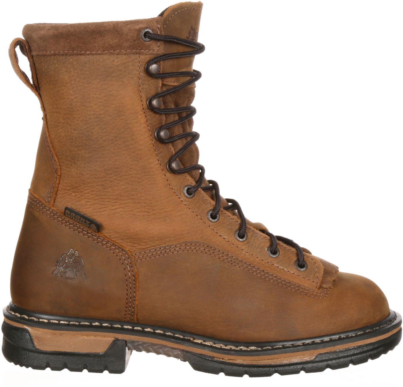 "Rocky Men's IronClad 9"" Waterproof Steel Toe Work Boots"