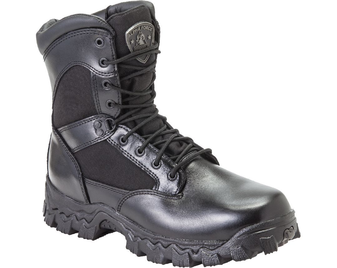 f3472b773cb Rocky Men's AlphaForce Zipper Waterproof Work Boots