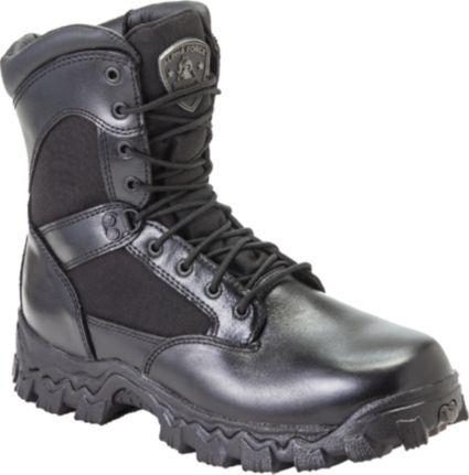 """Rocky Men's AlphaForce 8"""" Side Zip Work Boots"""