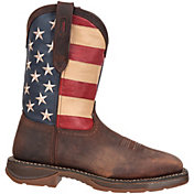 "Durango Men's Rebel American Flag 11"" Waterproof Steel Toe Western Work Boots"