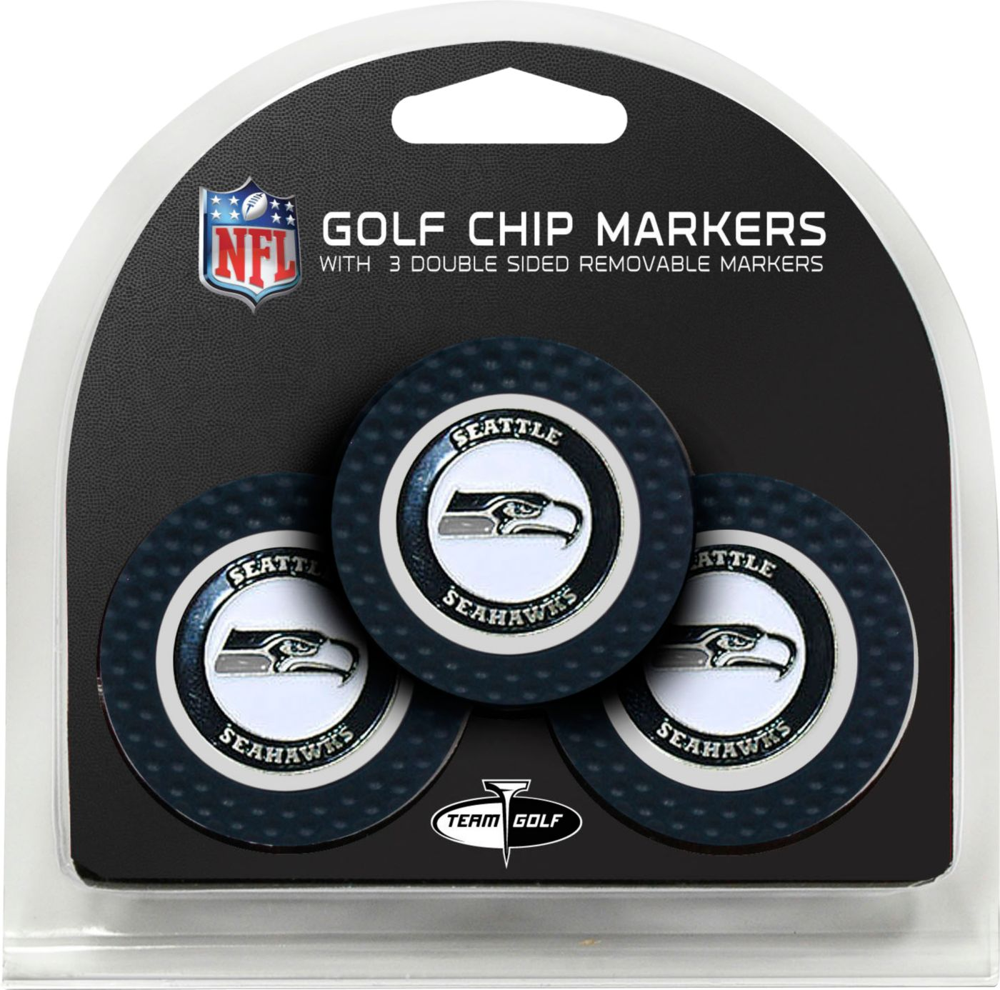 Team Golf Seattle Seahawks Golf Chips - 3 Pack