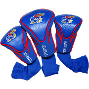 Team Golf Kansas Jayhawks Contour Headcovers - 3-Pack