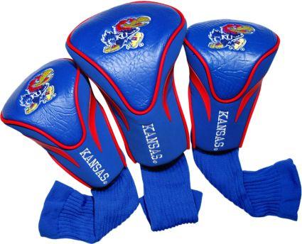 Team Golf Kansas Jayhawks Contour Sock Headcovers - 3 Pack