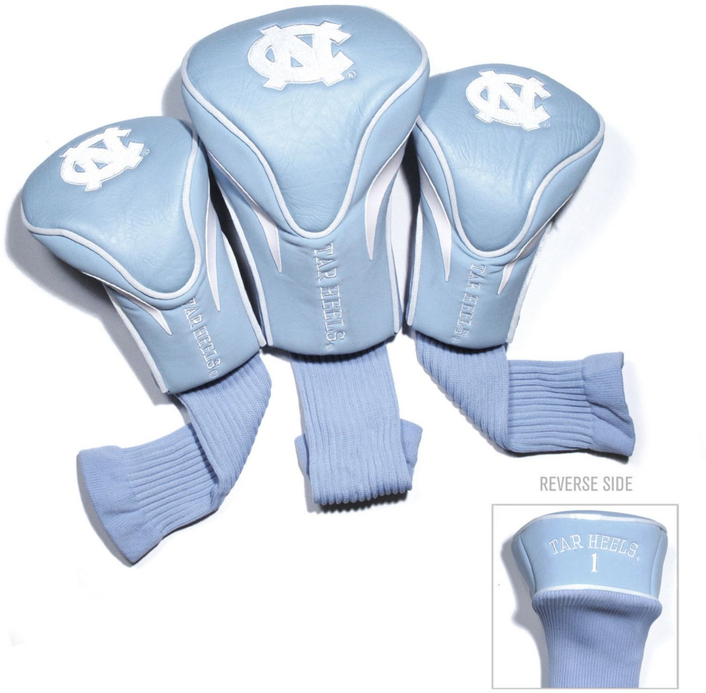 Team Golf UNC Tar Heels Contour Sock Headcovers - 3 Pack