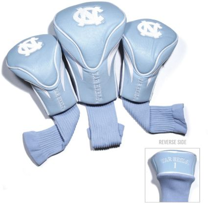 Team Golf UNC Tar Heels Contour Sock Headcovers - 3 Pack