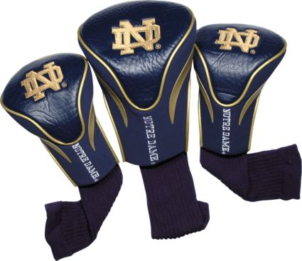 Team Golf Notre Dame Fighting Irish NCAA Contour Sock Headcovers - 3 Pack