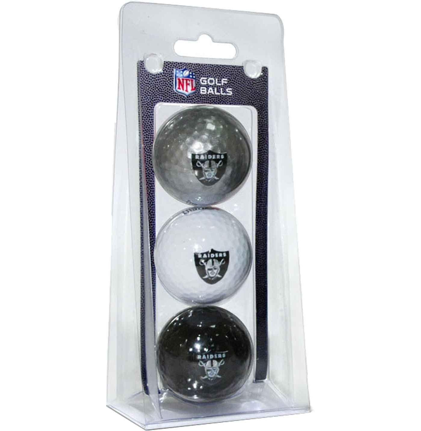 Team Golf Oakland Raiders Golf Balls – 3 Pack