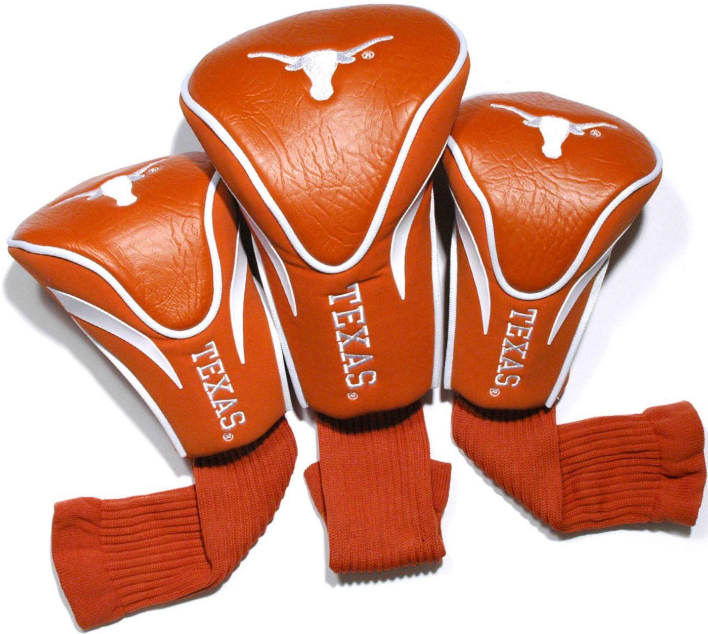 Team Golf Texas Longhorns NCAA Contour Sock Headcovers - 3 Pack