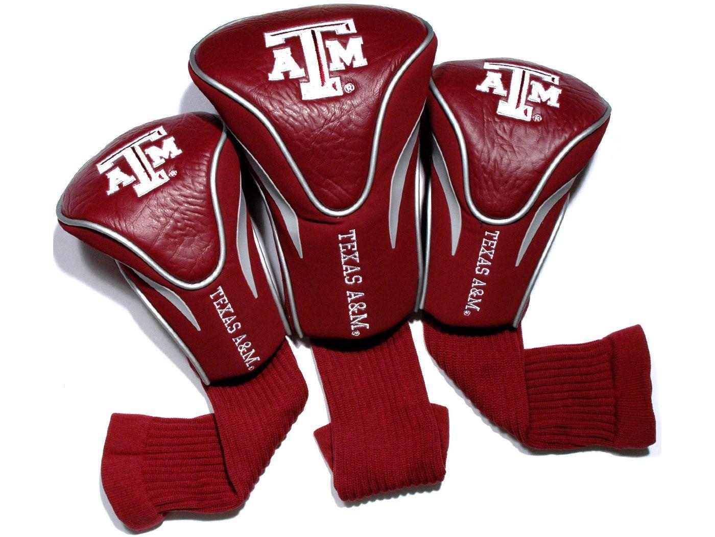 Team Golf Texas A&M Aggies Contour Sock Headcovers - 3 Pack