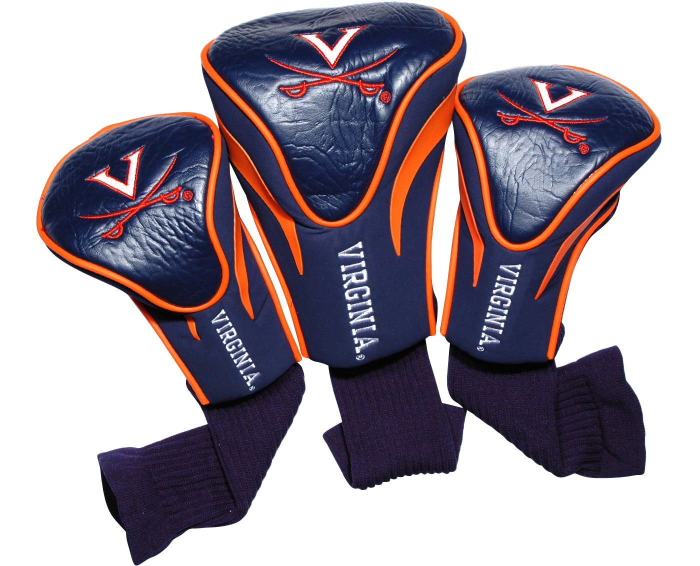 Team Golf Virginia Cavaliers Contour Sock Headcovers - 3 Pack