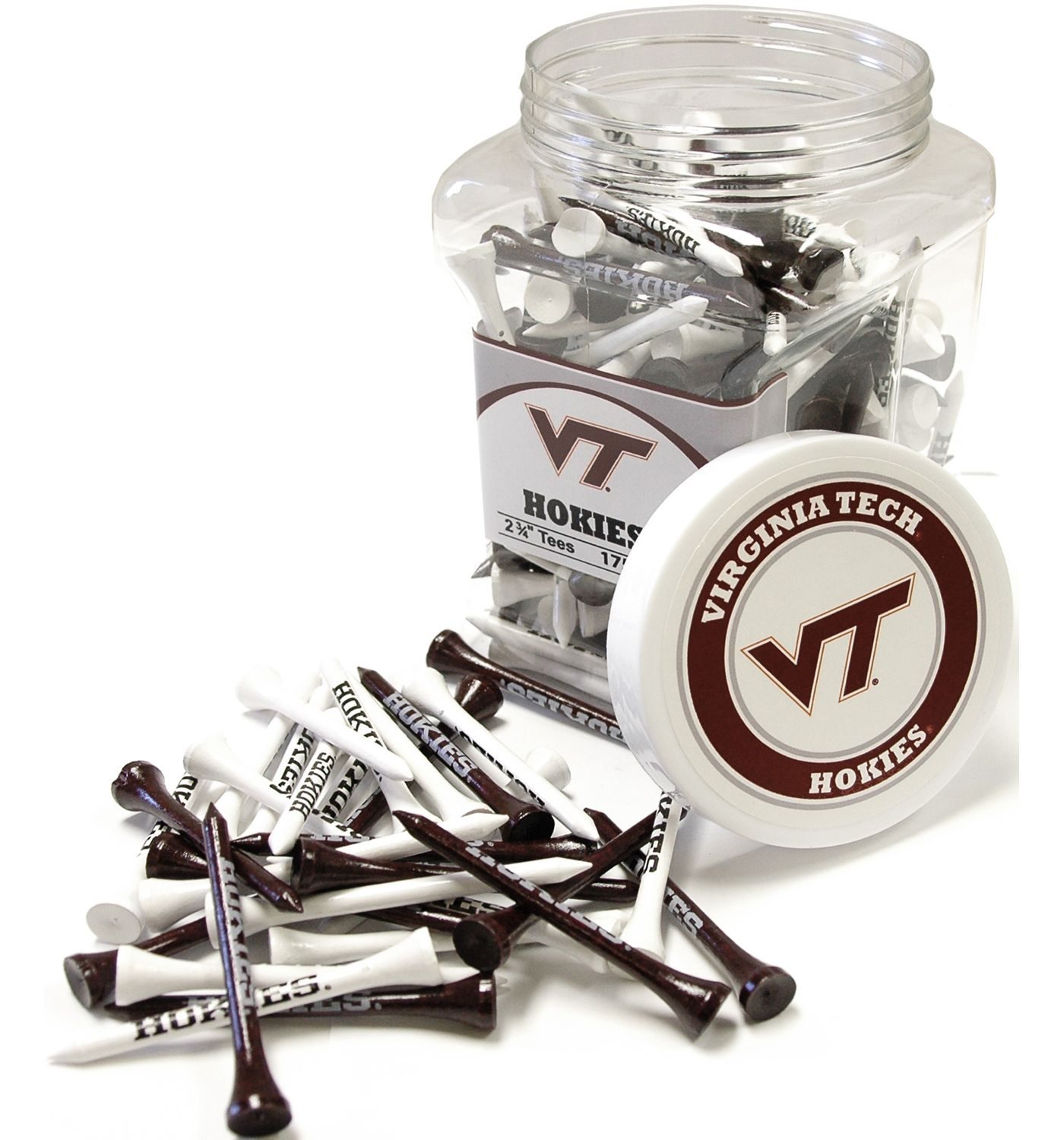 Team Golf Virginia Tech Hokies Tee Jar - 175 Pack