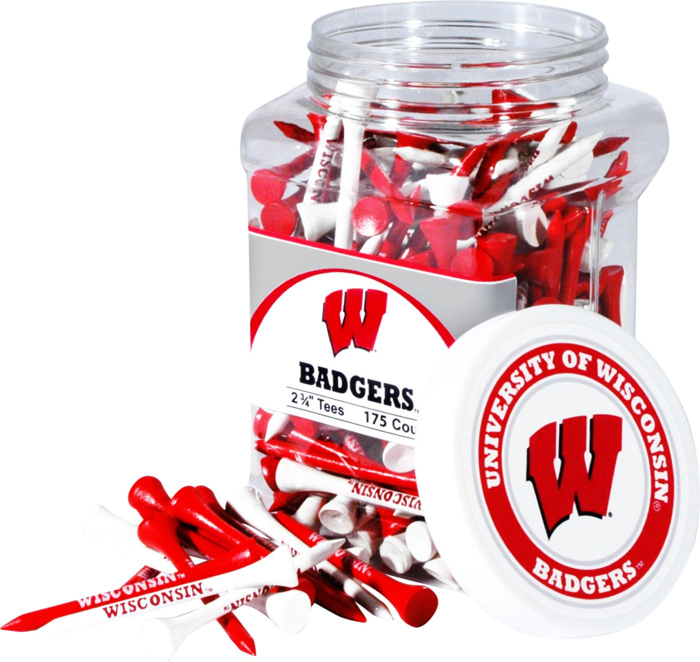 Team Golf Wisconsin Badgers Tee Jar - 175 Pack