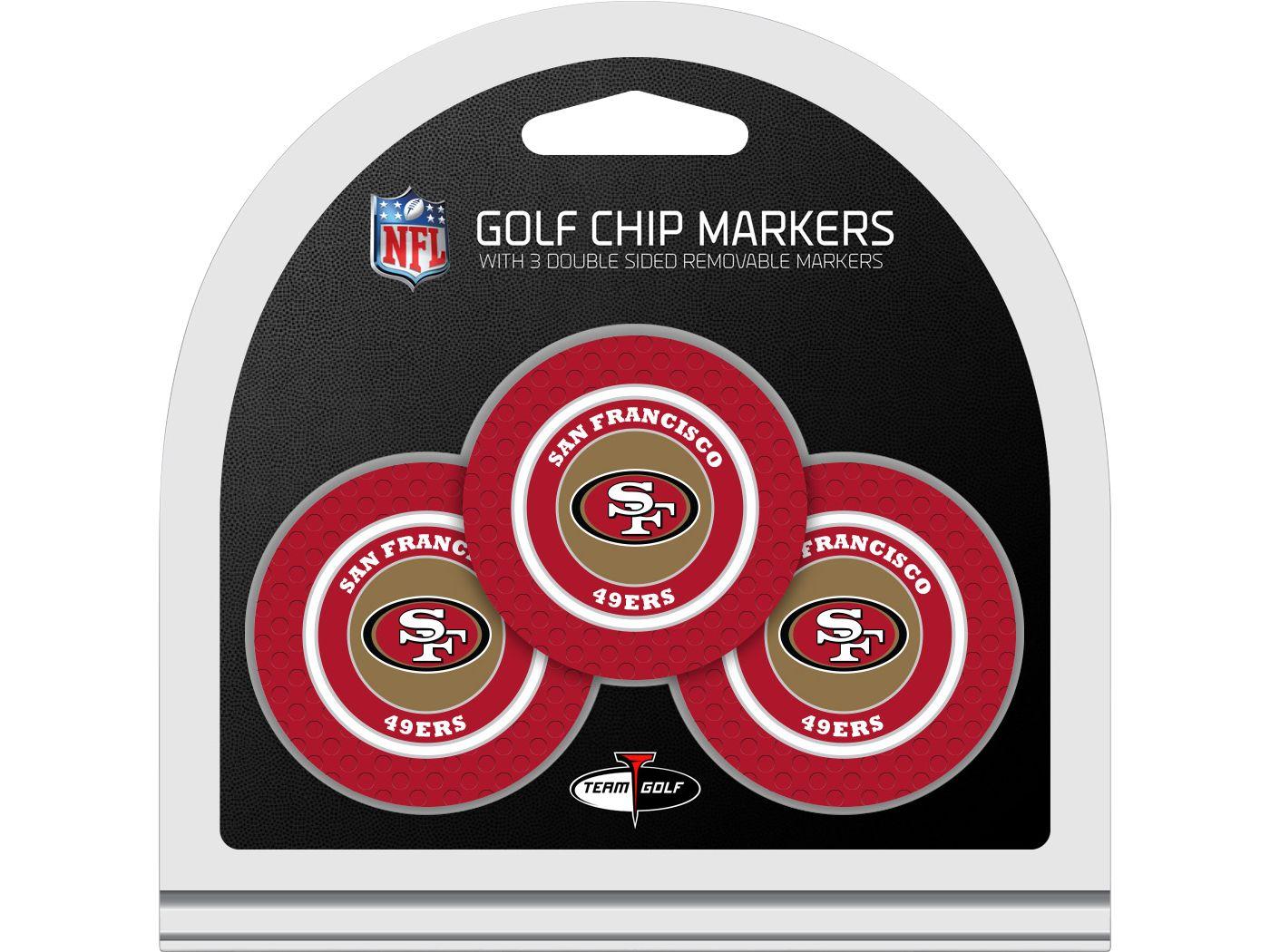 Team Golf San Francisco 49ers Golf Chips - 3 Pack