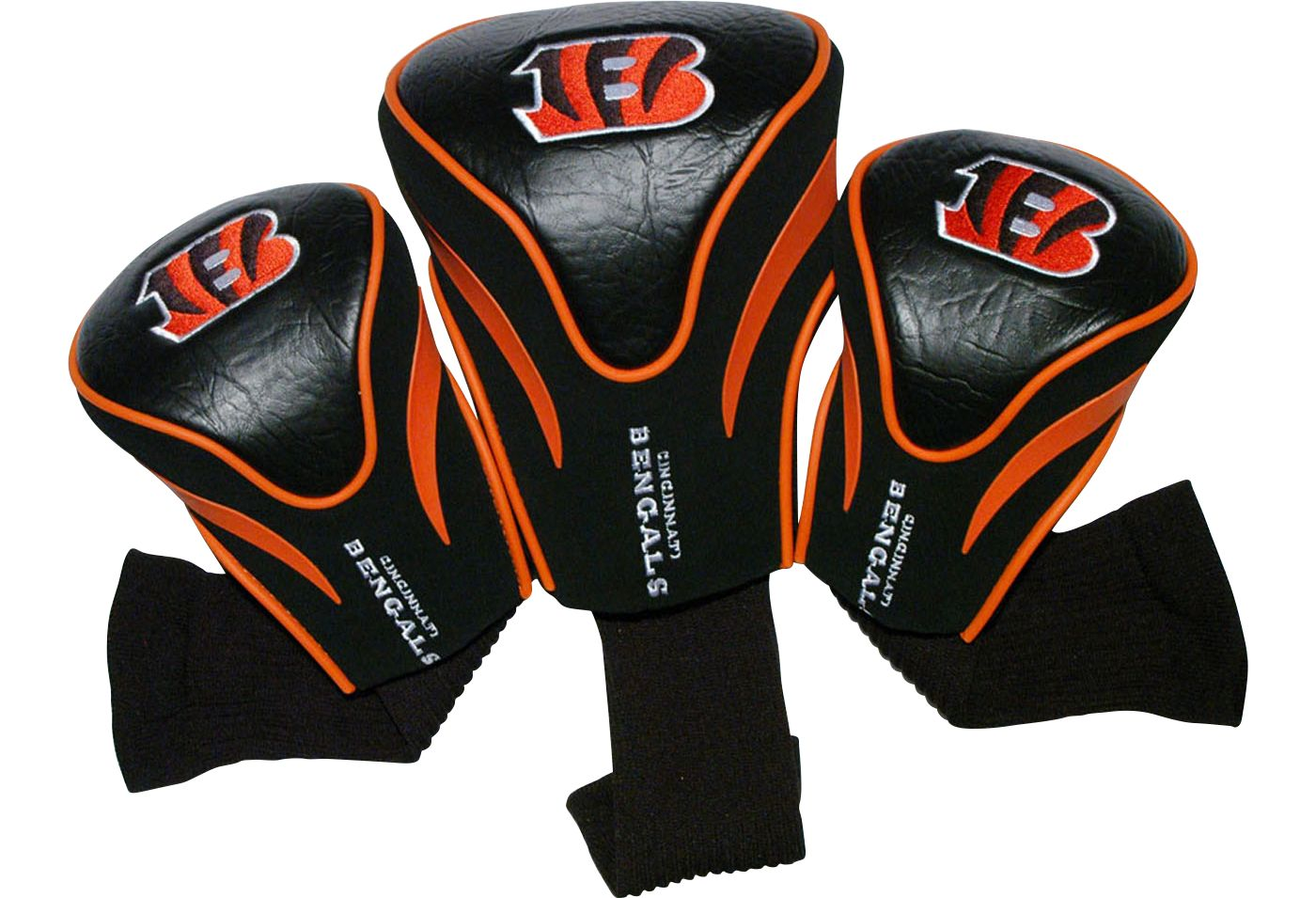 Team Golf Cincinnati Bengals Contour Sock Headcovers - 3 Pack