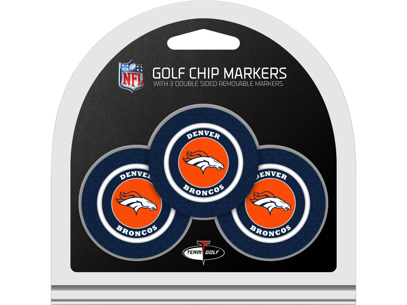 Team Golf Denver Broncos Golf Chips - 3 Pack