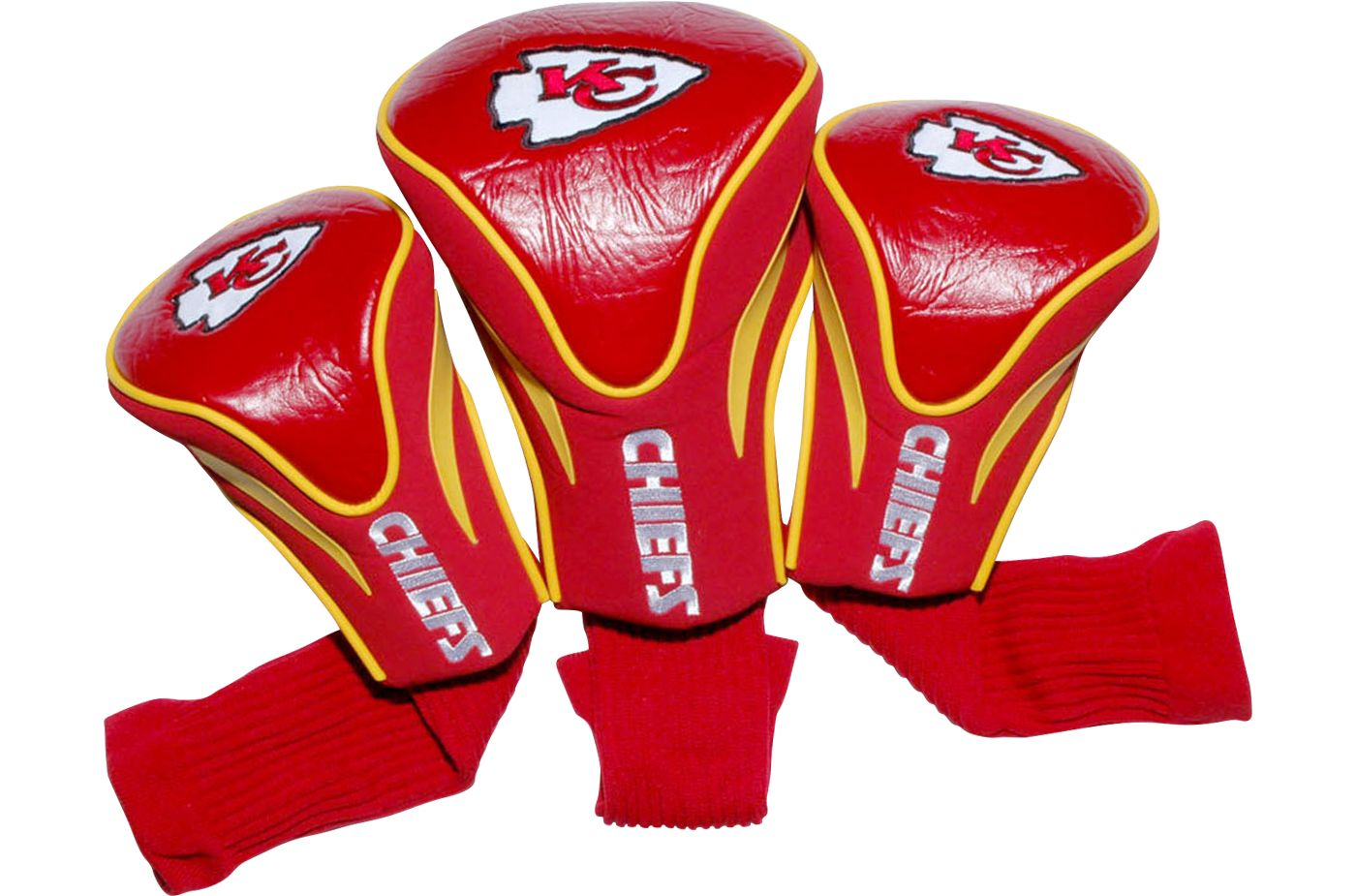 Team Golf Kansas City Chiefs Contour Sock Headcovers - 3 Pack