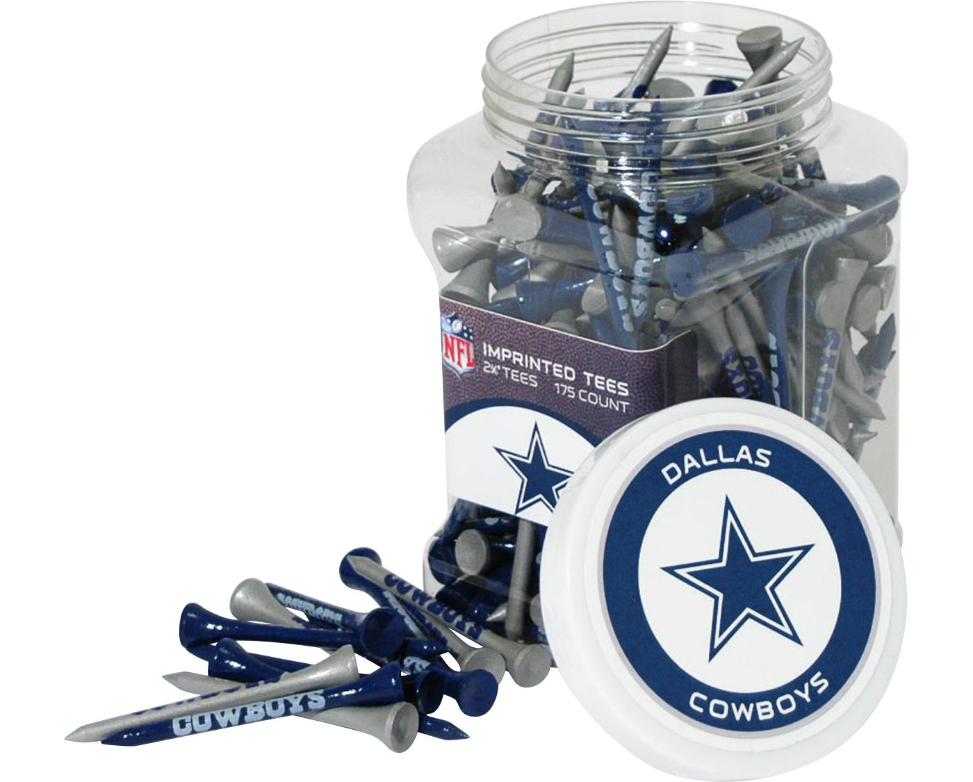 Team Golf Dallas Cowboys Tee Jar - 175 Pack