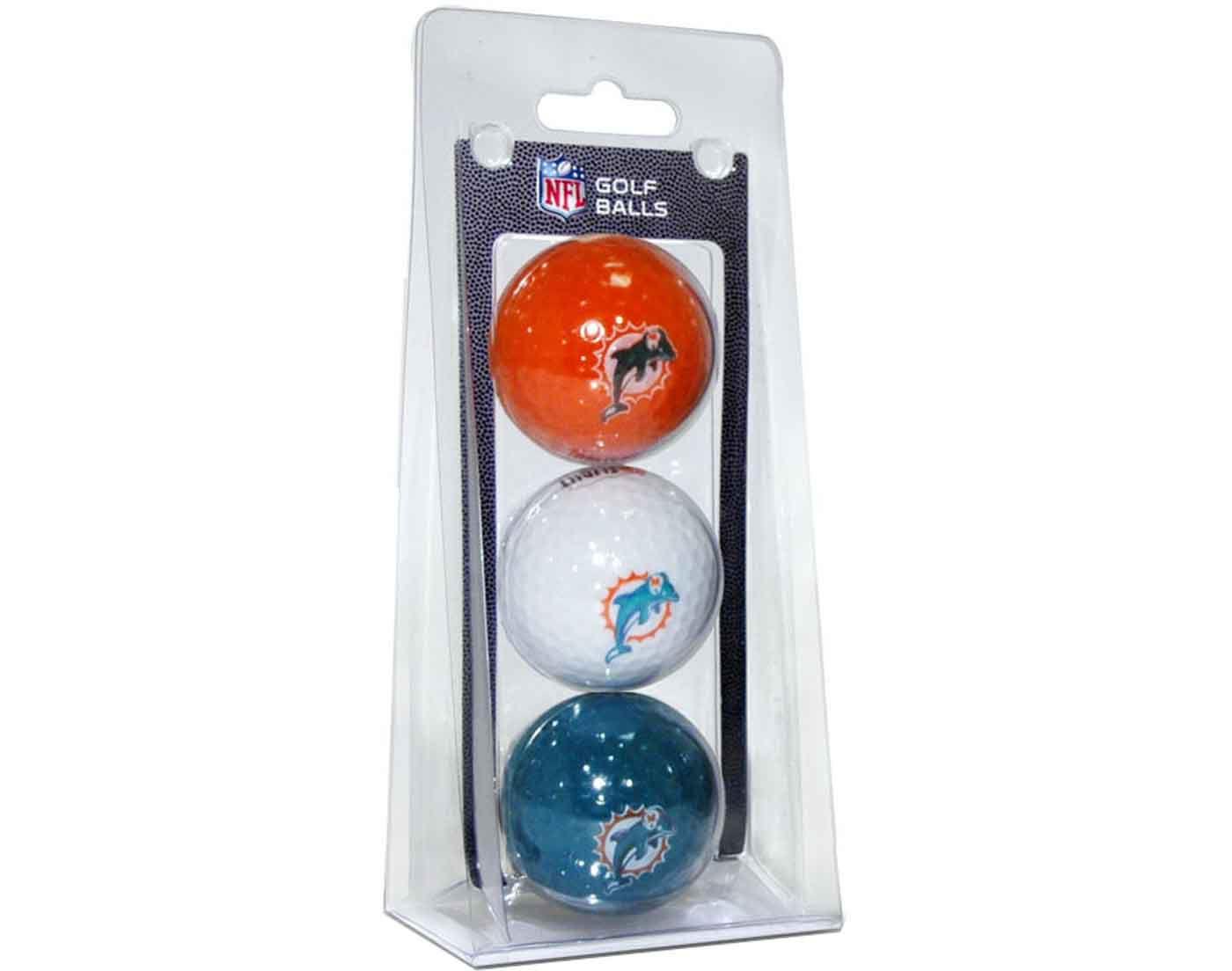 Team Golf Miami Dolphins Golf Balls – 3 Pack