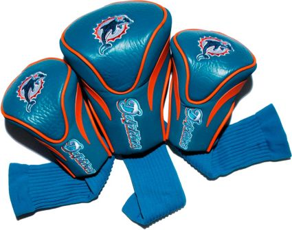 Team Golf Miami Dolphins Contour Sock Headcovers - 3 Pack