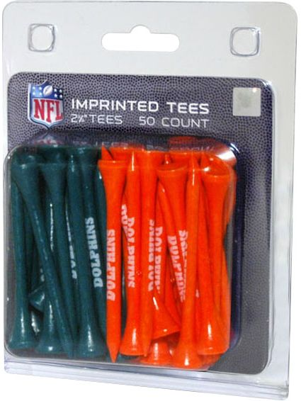 "Team Golf Miami Dolphins 2 3/4"" Golf Tees - 50 Pack"