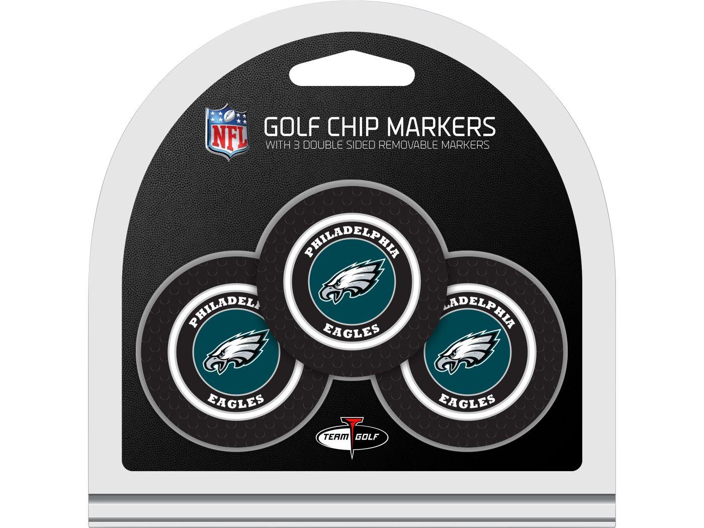 Team Golf Philadelphia Eagles Poker Chips Ball Markers - 3-Pack