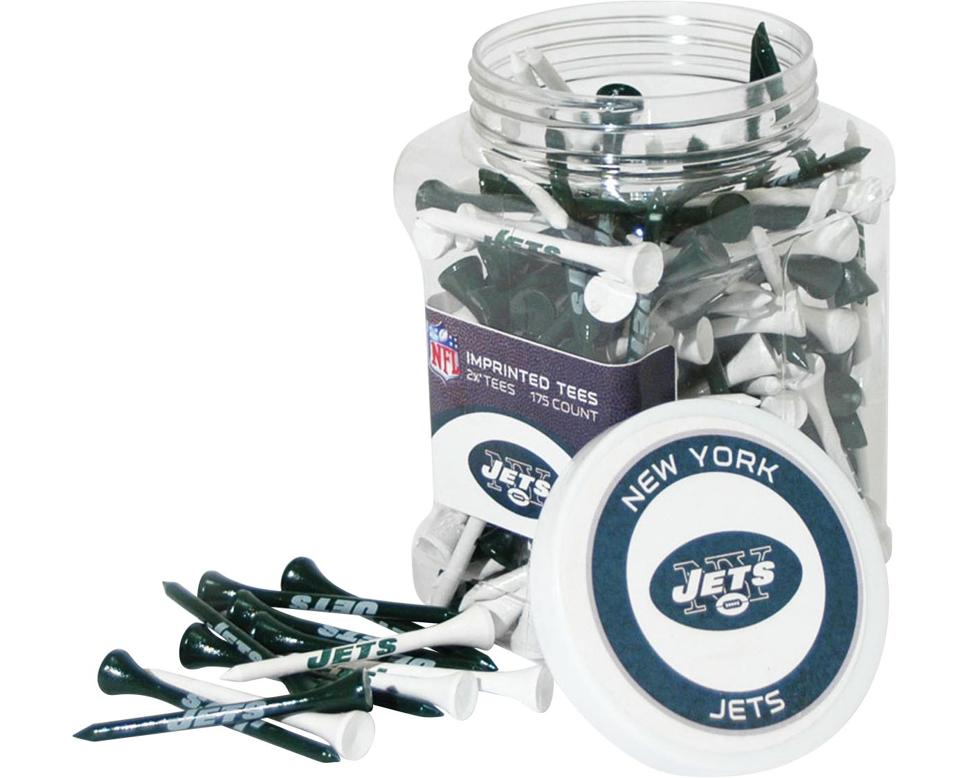 Team Golf New York Jets Tee Jar - 175 Pack