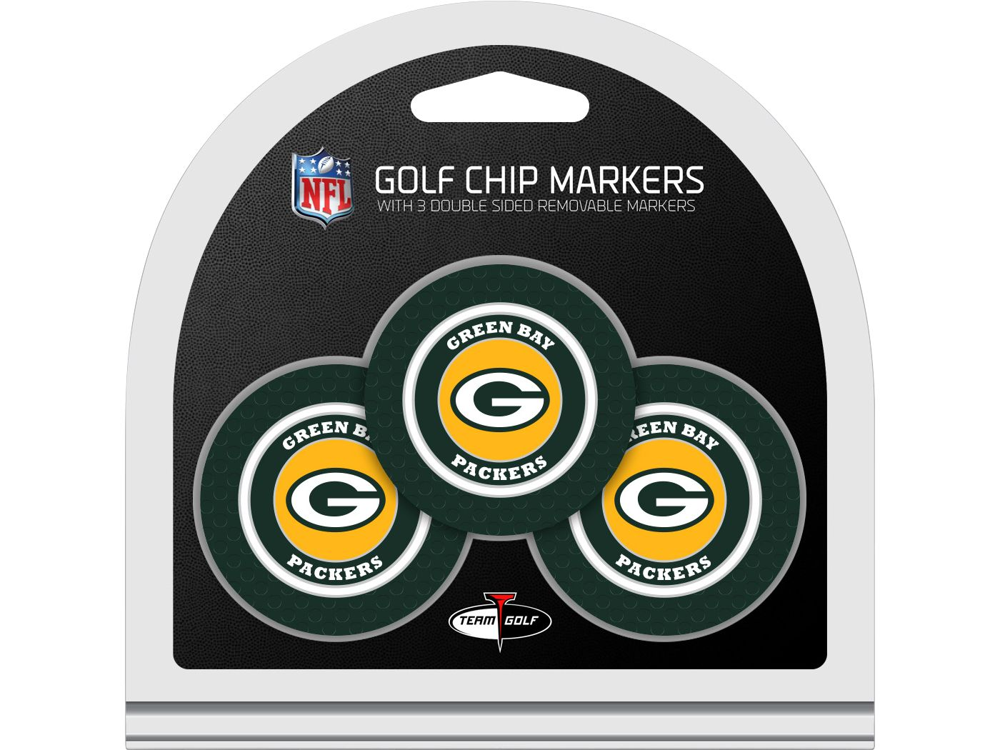 Team Golf Green Bay Packers Golf Chips - 3 Pack