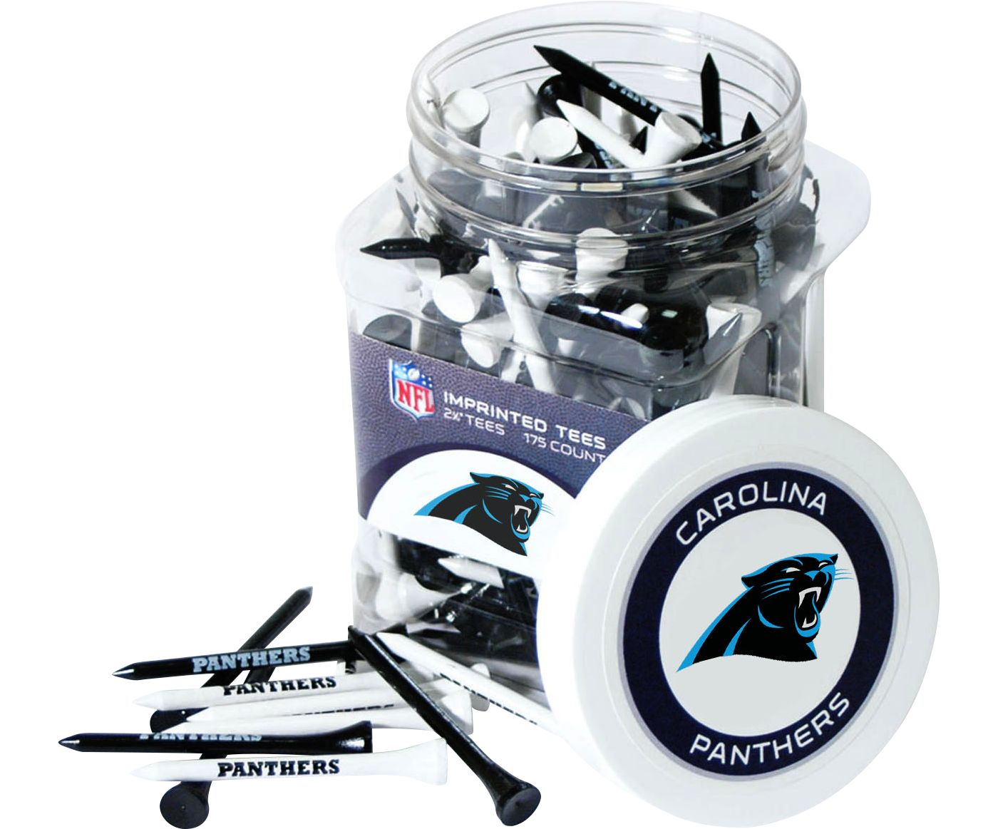 Team Golf Carolina Panthers Tee Jar - 175 Pack
