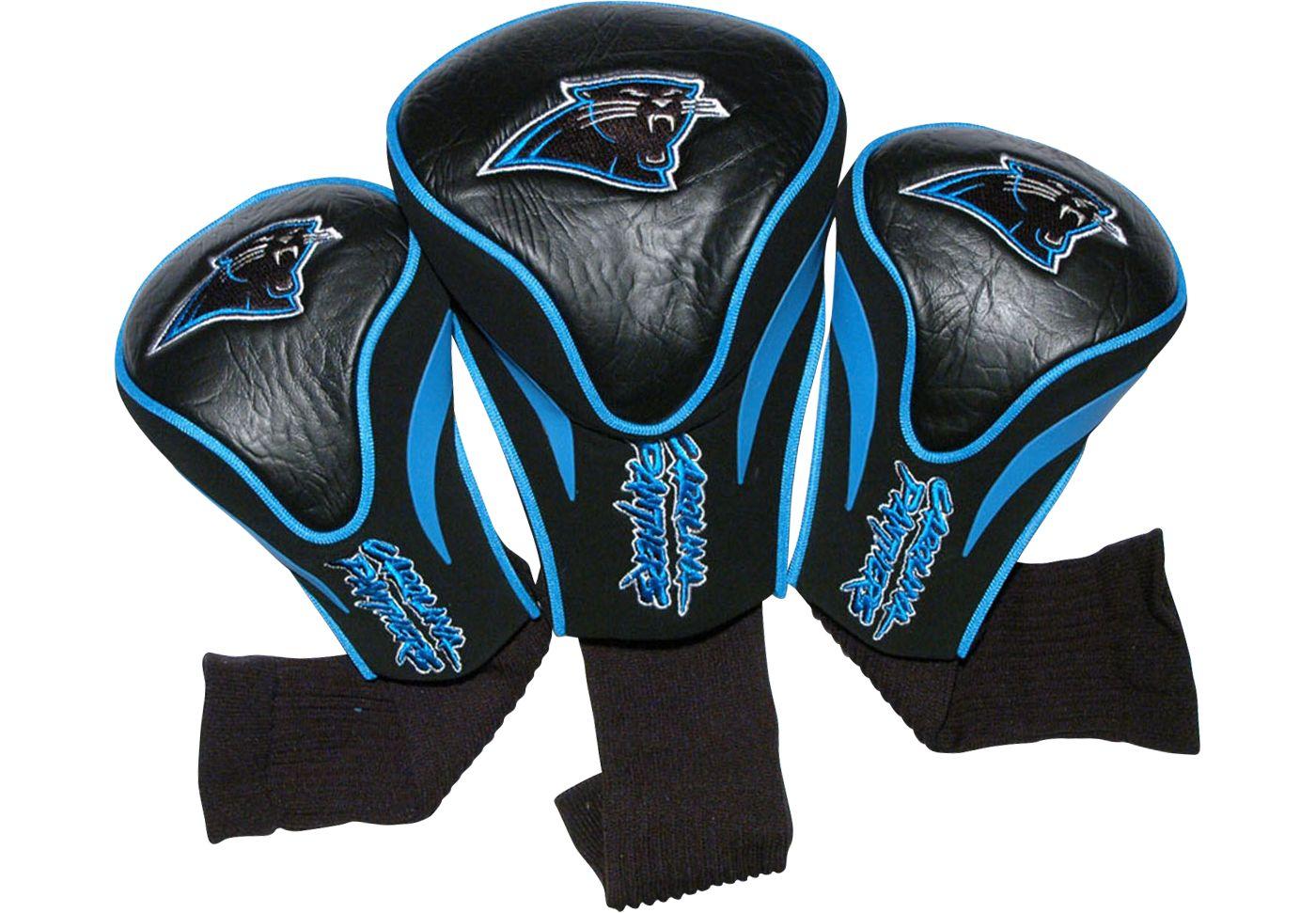 Team Golf Carolina Panthers Contour Sock Headcovers - 3 Pack