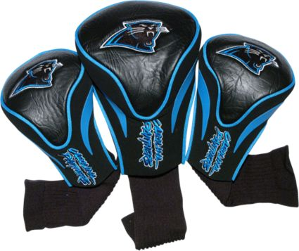 Team Golf Carolina Panthers Contour Sock Headcovers - 3 Pack