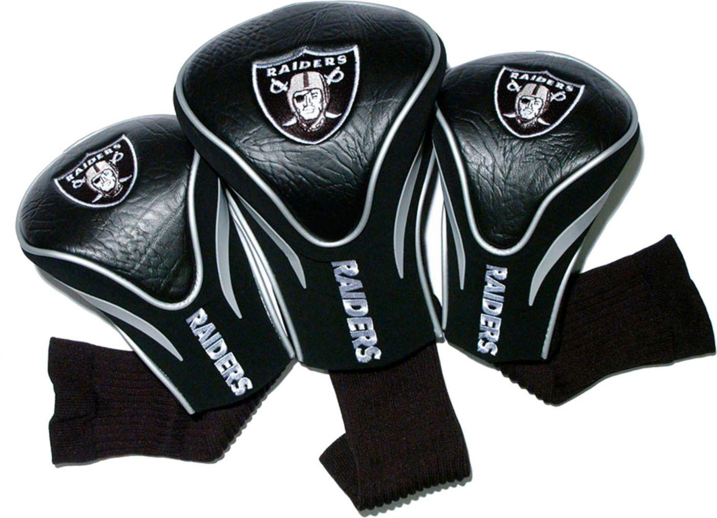 Team Golf Oakland Raiders Contour Sock Headcovers - 3 Pack