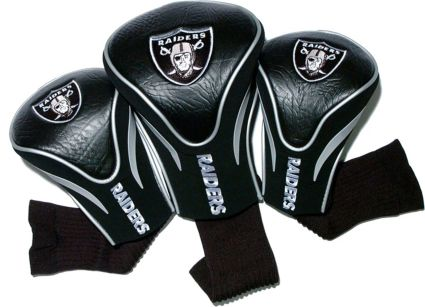 Team Golf Oakland Raiders Contour Sock Headcovers - 3 Pack