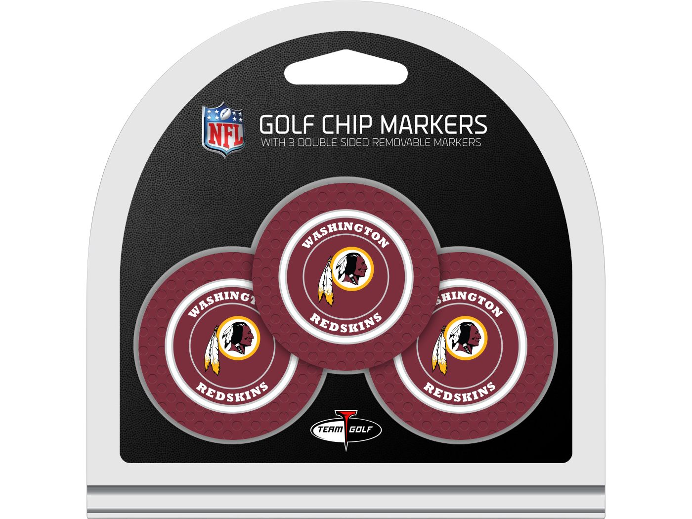 Team Golf Washington Redskins Golf Chips - 3 Pack