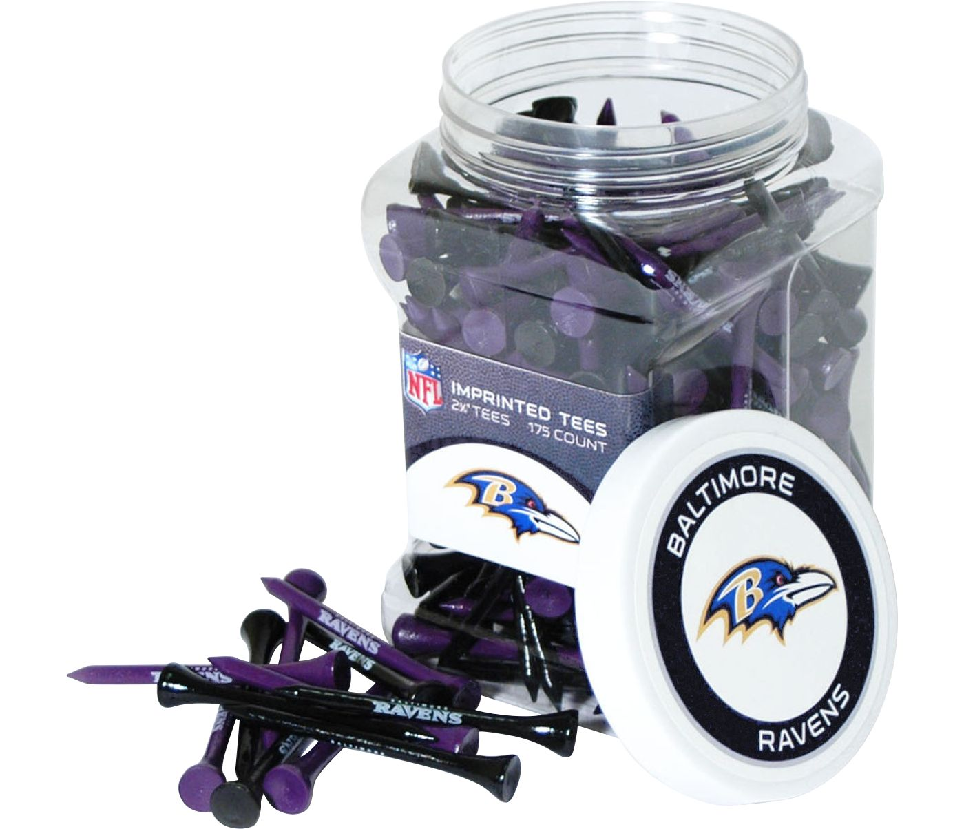 Team Golf Baltimore Ravens Tee Jar - 175 Pack