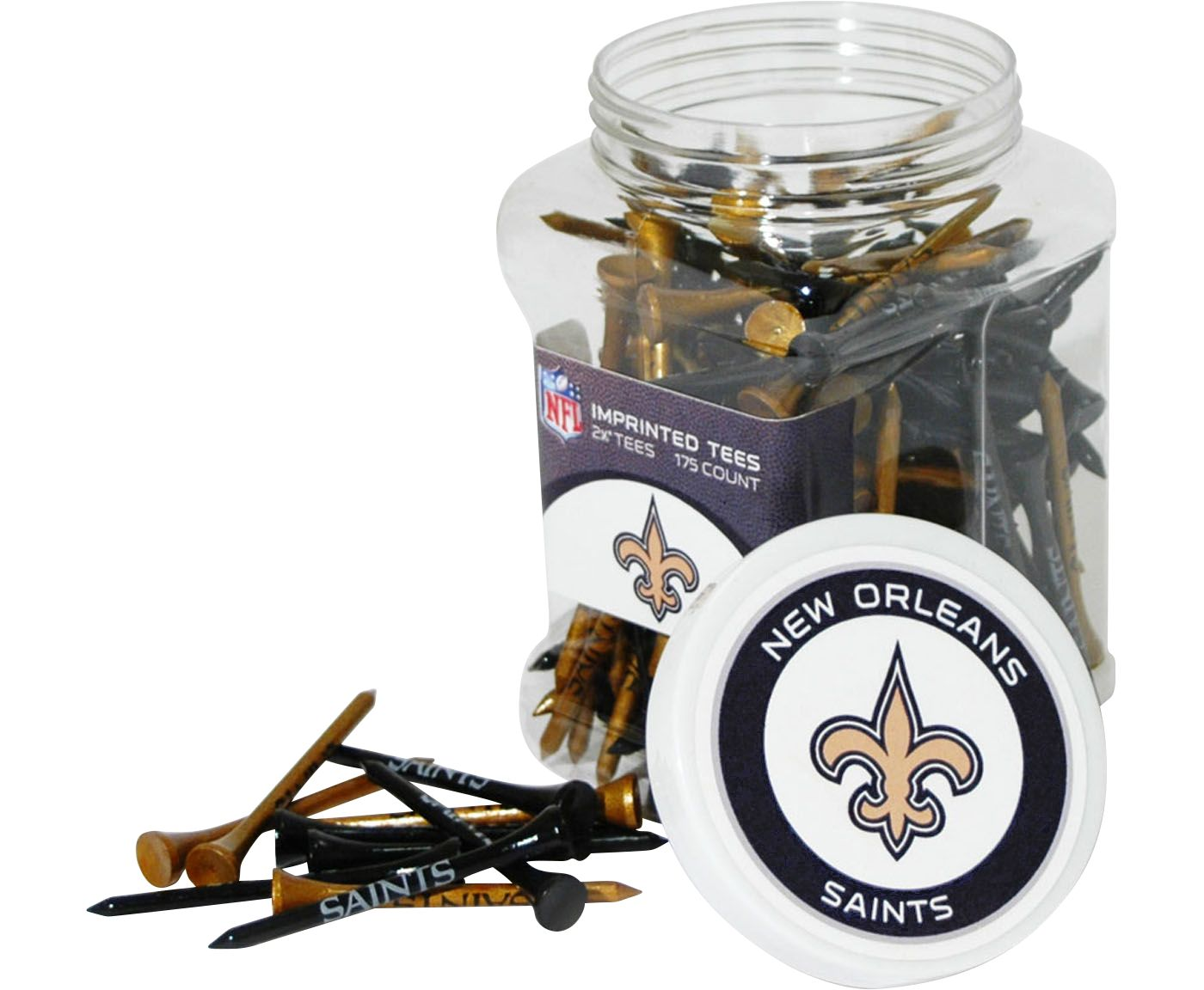 Team Golf New Orleans Saints Tee Jar - 175 Pack