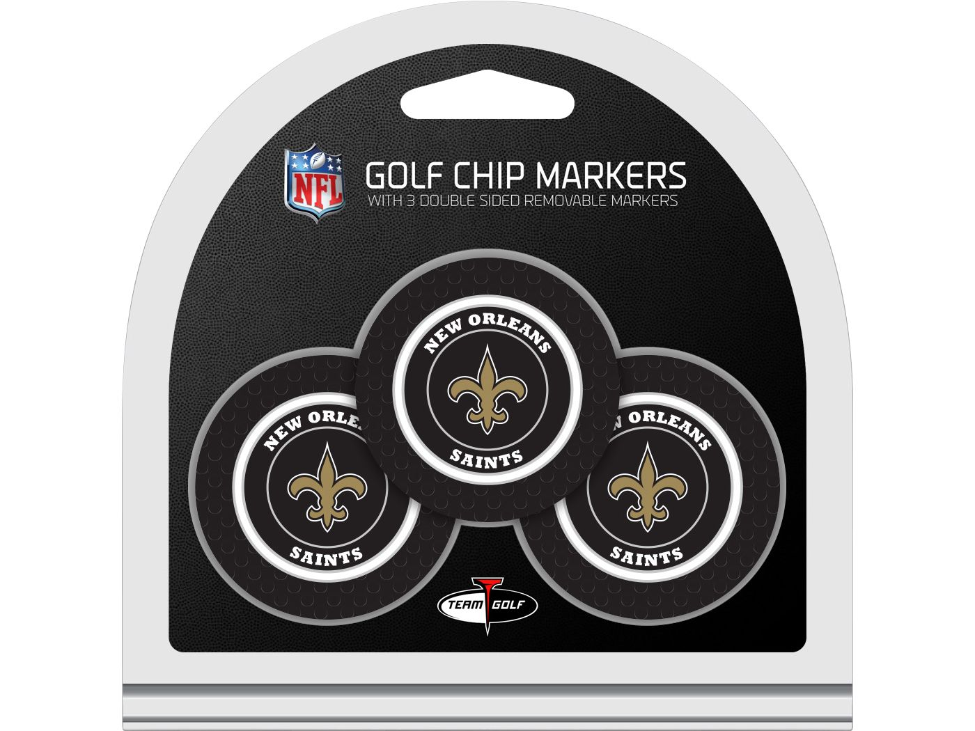 Team Golf New Orleans Saints Golf Chips - 3 Pack