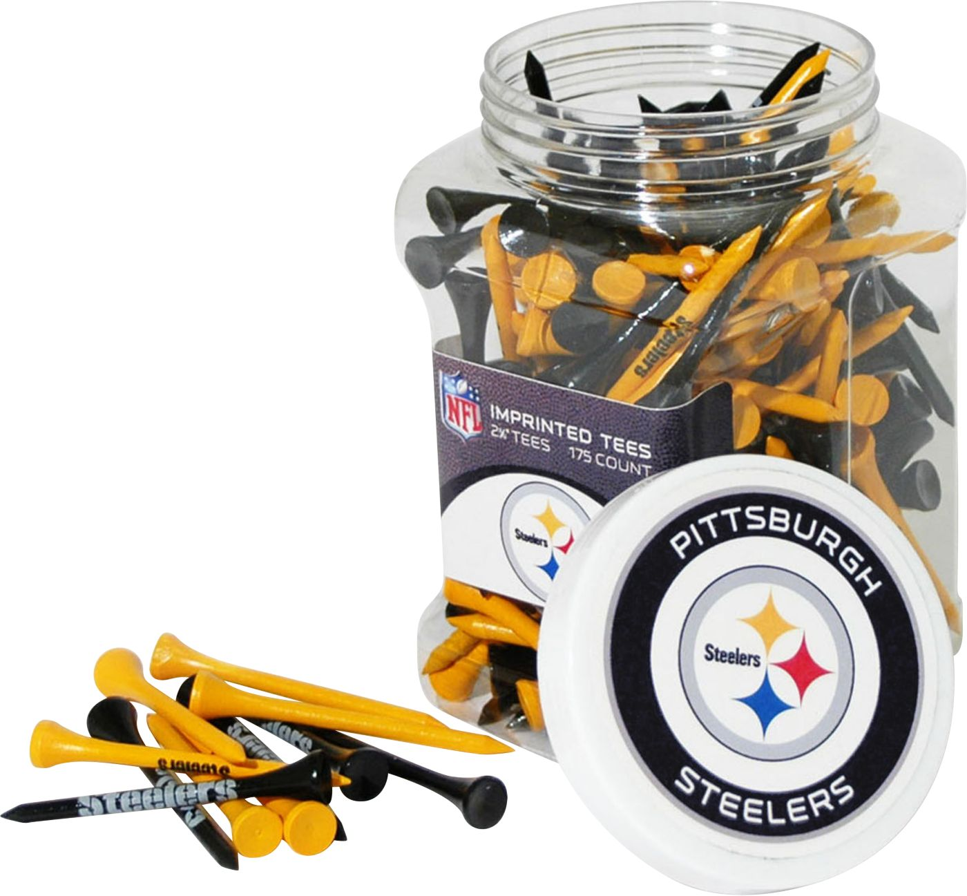 Team Golf Pittsburgh Steelers Tee Jar - 175 Pack