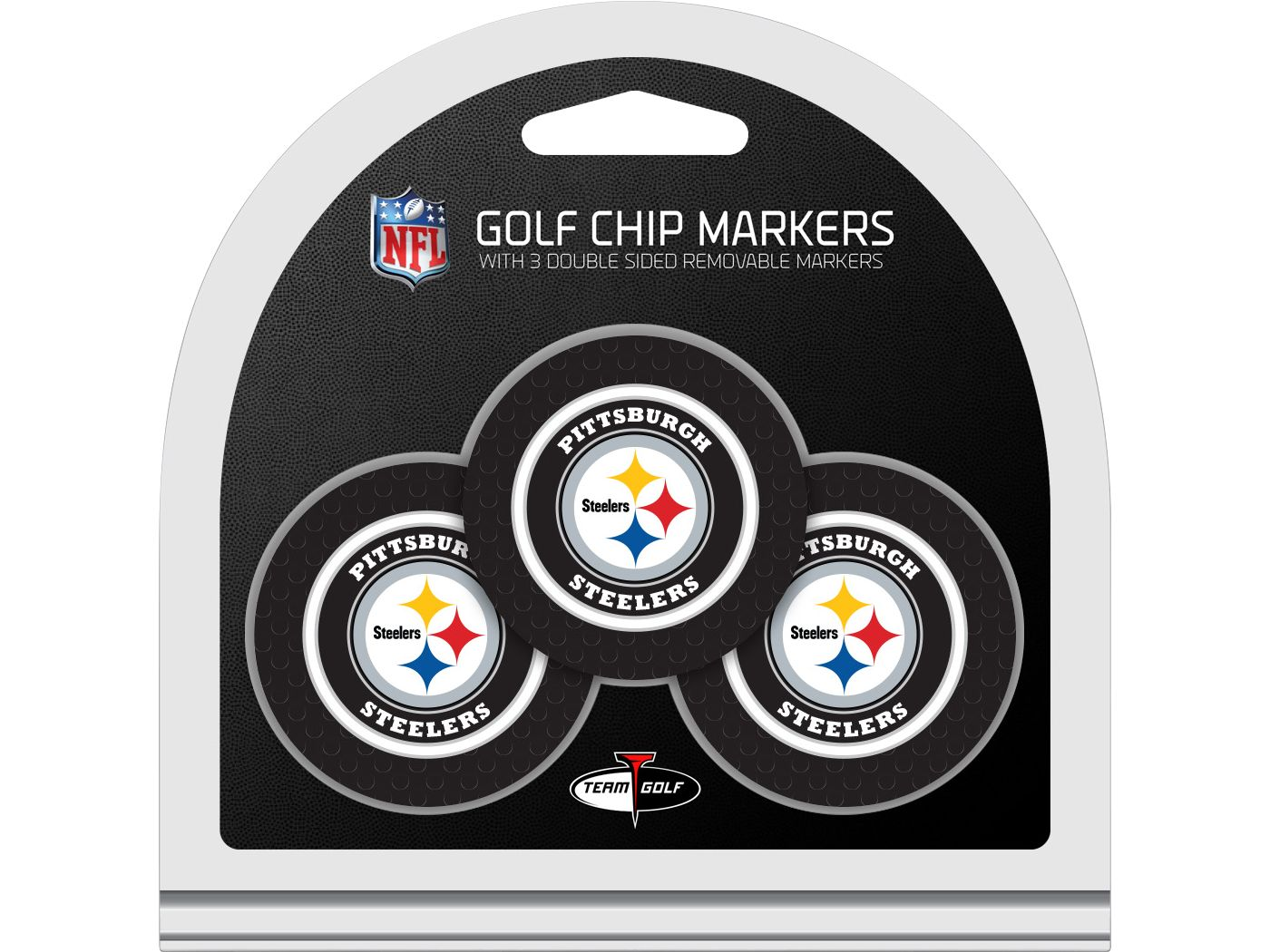 Team Golf Pittsburgh Steelers Golf Chips - 3 Pack