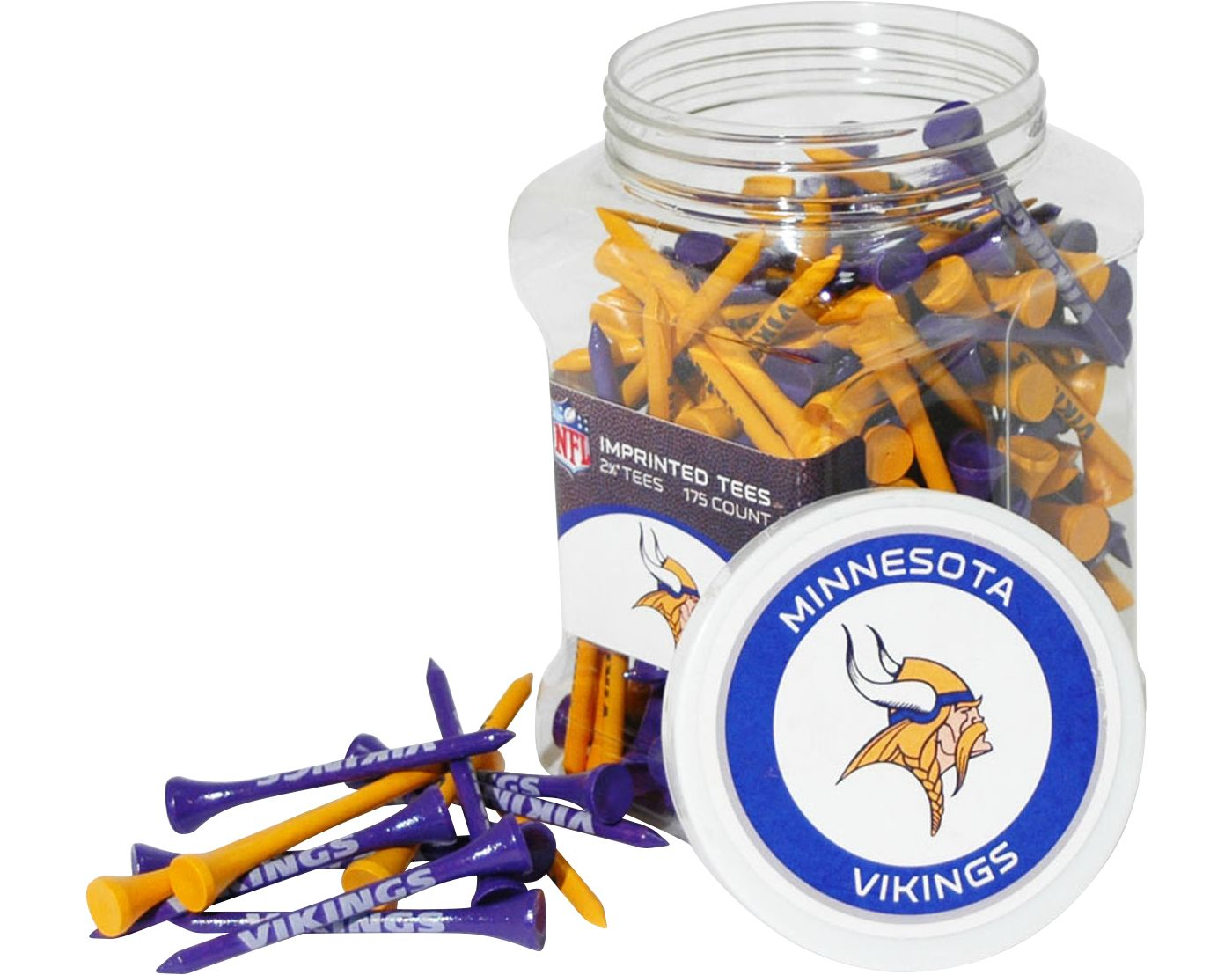 Team Golf Minnesota Vikings Tee Jar - 175 Pack