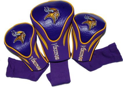 Team Golf Minnesota Vikings Contour Sock Headcovers - 3 Pack