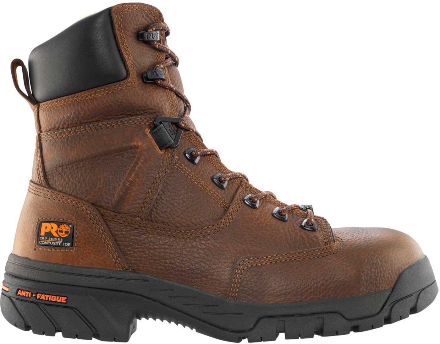 Timberland PRO Men's 8'' Helix Waterproof Composite Toe Work Boots