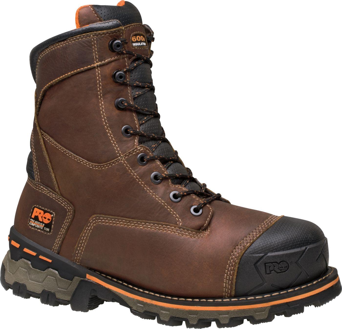 Timberland PRO Men's 8'' Boondock Waterproof 600g Composite Toe Work Boots