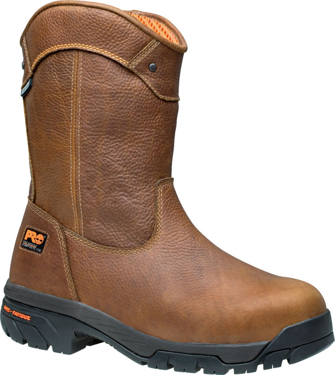 7554cf44a93 Timberland PRO Men's Helix Wellington Waterproof Composite Toe Work Boots